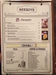 Beehive menu 2