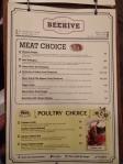 Beehive menu 3